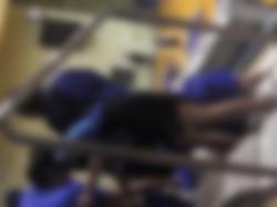 第三体育館盗撮【マ○コ丸見え!!第三体育館潜入撮】File039 分かるでしょう8純白!!