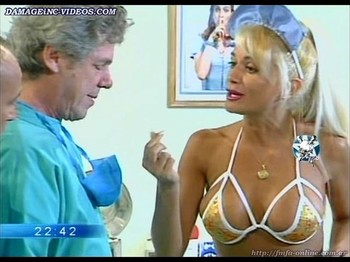 Paula Volpe hot nurse in lingerie