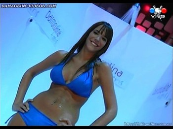 Sofia Menconi big wet tits on TV