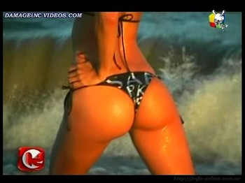 Ivana Medail hot booty in bikini thong