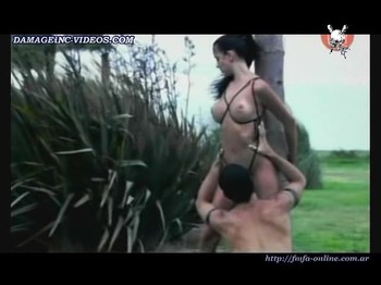 Pamela Sosa topless scene with a guy