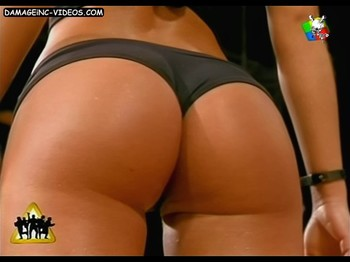 Ayelen perfect ass in thong on live TV