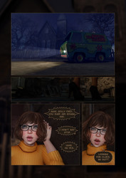 Velma Dinkley and Naughty Dog Scooby Doo