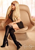 Jessica Simpson Minivestido Con Botas Altas