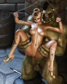 Hitmanx3z - Sabrina and huge monster
