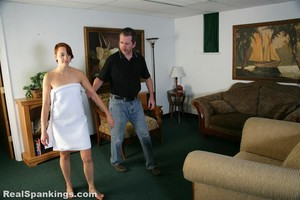 Pulled From The Shower For A Spanking - image1