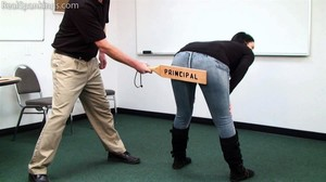 Jordyn Paddled By The Principal - image4
