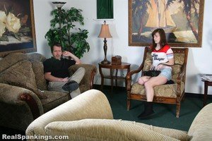 Adrianna Spanked In Front Of Her Friend - image4