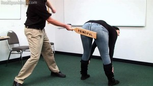 Jordyn Paddled By The Principal - image6