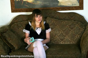 Maid Mable Is Spanked By Her Boss - image2