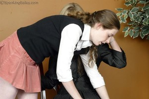 Ms. Burns Gives Bailey A Hand Spanking - image1
