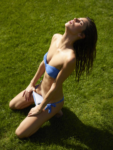 Victoria R Blue Bikini