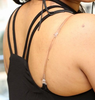 Heroine Madhumitha Krishna transparent bra hot bare back