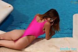 Jennifer Ann - Jennifer teasing around the pool s6sl5cpgg6.jpg