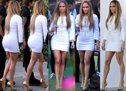 Jennifer Lopez Con Minivestido Ajustado En American Idol Studio En Hollywood